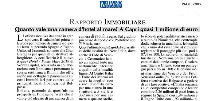 Quanto vale una camera d'hotel al mare? A Capri quasi 1 milione di euro – World Capital su Milano Finanza